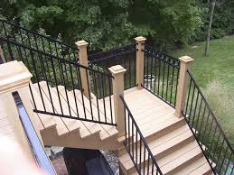 wrought iron railing with bars outdoor for stairs fe26