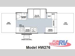 Pop Up Camper Floor Plans by Used 2009 Forest River Rv Rockwood High Wall Series Hw276 Folding