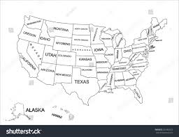 United State Of America Map by Editable Blank Vector Map United States Stock Vector 331083323