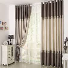 linen cotton blend blackout curtain for living room