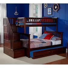 Bunk Beds Trundle Atlantic Furniture Columbia Stairway Bunk Bed