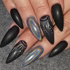 matte hologram nail art gallery