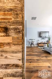 tobacco barn grey accent wall complete with matching wood corner