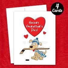 hockey valentines cards 4 hockey dog s cards saucy mitts hockey