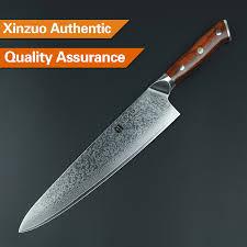 Restaurant Kitchen Knives Xinzuo 10 Inch Chef Knife Japanese Damascus Steel Kitchen Knife