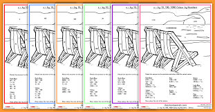 year 5 times and divide by 10 100 and 1000 worksheet colour by