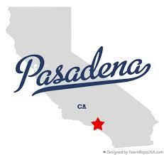 pasadena ca map map of pasadena ca california