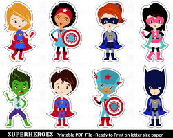 superhero clip art clipart printable cut outs superhero