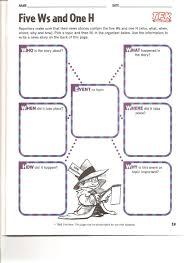 5 w u0027s graphic organizers course documents 5th grade