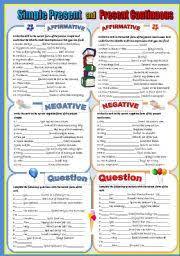 english exercises present simple vs present continuous revision