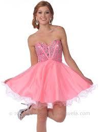 strapless corset top empire waist short prom dress sung boutique