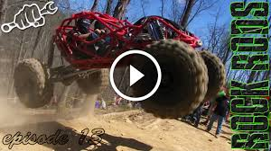 monster truck drag race rock bouncer drag racing at dirty turtle rock rods episode 14