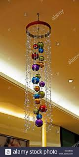 Christmas Decorations Shop Lakeside by Christmas Decoration Baubles Shopping Mall Dublin Ireland Stock