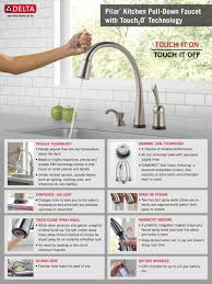 satin wall mount delta touch kitchen faucet two handle side