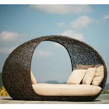 Outdoor Wicker Daybed Rattan Patio Daybed Brilliant Outdoor Wicker With Shaded Daybeds 4
