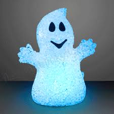 soft glow halloween ghosts with color change leds by