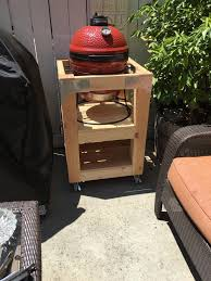 kamado joe grill table plans kamado joe jr wood cart build do it yourself kamado guru
