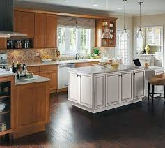 white kitchen cabinets stain stain cabinets white island