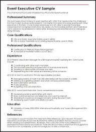 cv for project manager sample event executive cv sample myperfectcv