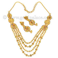 earrings necklace images Gold sets necklace and earrings 22 k jpg