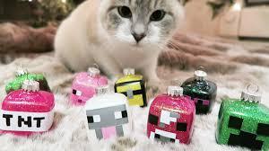 diy minecraft glitter ornaments monday vlog