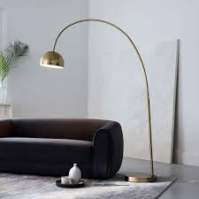 overarching metal shade floor lamp west elm