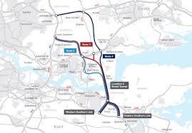 Eurostar Route Map by Dunton Garden Suburb The Thames Double Crossing