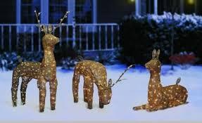 Wooden Reindeer Outdoor Christmas Decorations