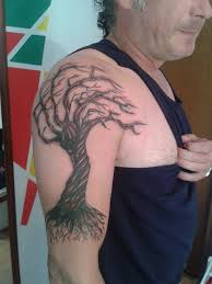 autumn tree on right half sleeve by marley