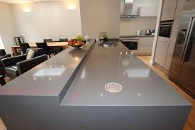 kitchen island worktops silver quartz kitchen worktop with integrated pop up sockets