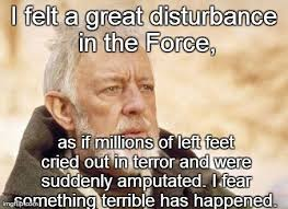 Obi Wan Kenobi Meme - disturbance in the force meme generator in best of the funny meme