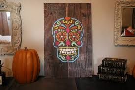 dia de los muertos home decor make a sugar skull decoration with a stencil stencil stories