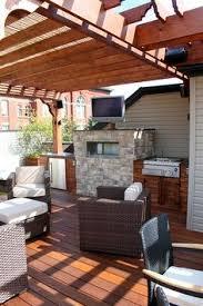 garage roof deck steel pergola with kona stain yelp garage