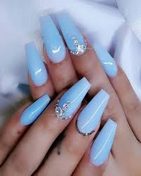 baby blue nails best 25 ba blue nails ideas on sky blue