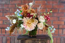 branches event floral company fall wedding centerpiece utah