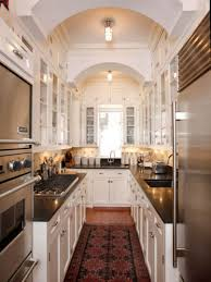 Narrow Galley Kitchen Designs by Kitchen Small Galley Kitchen Design Ideas With Off White