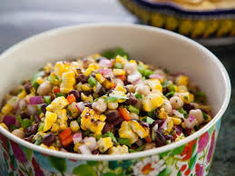 grilled corn and bean salad recipe valerie bertinelli food network