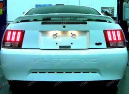 mustang led tail lights 04 ford mustang black housing led tail lights
