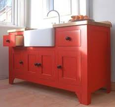 Freestanding Kitchen Cabinets by Freestanding Kitchen Cabinets Natural Wood With Farmhouse Sink