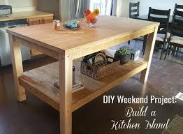 easy kitchen island plans ana white weekend project diy kitchen island diy projects