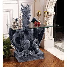 dragon gargoyle chair table home indoor outdoor design toscano