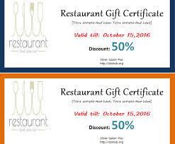 discount restaurant gift cards restaurant gift certificate template document hub