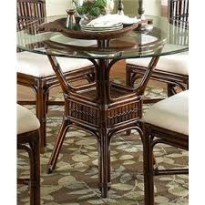 polynesian indoor rattan u0026 bamboo round dining table in antique
