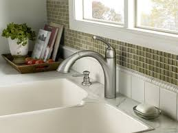Kitchen Faucets Sale Decor Brushed Nickel Kitchen Faucets Menards With Soap Dispenser