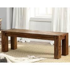 furniture of america clarks farmhouse style kitchen bench dark