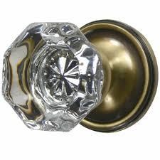 Brass Door Knobs Crystal Door Knob Providence Style Victorian Plate Antique Brass