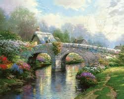 thomas kinkade halloween blossom bridge u2013 limited edition art the thomas kinkade company