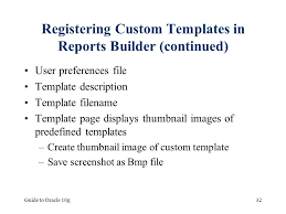 report builder templates chapter 7 creating database reports ppt