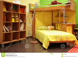children room with double bed royalty free stock image image