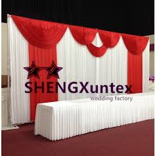 wedding backdrop aliexpress white color wedding backdrop curtain with color drape best